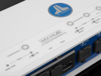 JL Audio MVi-HUB JLid™-Comm & Optical Audio Network Hub for MVi Amplifiers