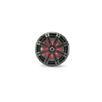 "Kicker 8"" Black\Charcoal Wake Tower LED Marine Speakers 1-Pair with 300 Watt Marine Amplifier"