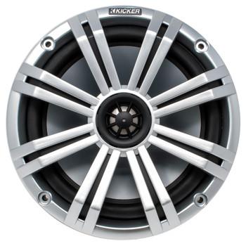 "Kicker 8"" Black\Silver Wake Tower LED Marine Speakers 1-Pair with 300 Watt Marine Amplifier"