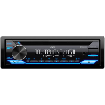 JVC KD-T710BT - CD Receiver featuring Bluetooth, Front USB, AUX, Amazon Alexa