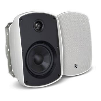 "Russound 5"" White Indoor Outdoor Wall Mount or Bookshelf Speaker Bundle 3 pair (6 total)"