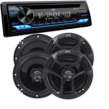 """JVC KD-TD71BT - CD Receiver featuring Bluetooth, Front USB, AUX, Amazon Alexa + Two Pairs Of JVC 6.5"""" Speakers"""