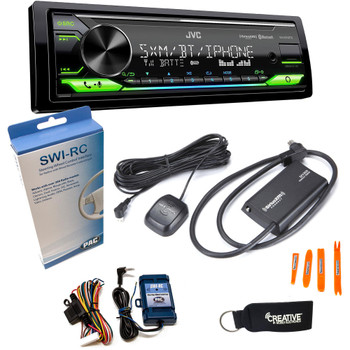 JVC KD-X370BTS Digital Media ReceiverW/ BT, USB, Amazon Alexa + SirusXM Radio Tuner & Swi-RC Control Interface