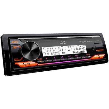"JVC KD-X37MBS Marine Digital Receiver W/ BT, USB, XM Ready, Amazon Alexa + 2 Pairs CS-DR6201M 6.5"" Black Marine Speakers"
