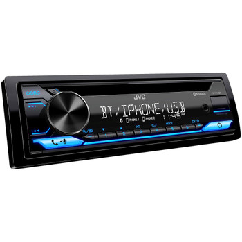 """JVC KD-T710BT - CD Receiver featuring Bluetooth, Front USB, AUX, Amazon Alexa + Two Pairs Of JVC 6x8"""" Speakers"""