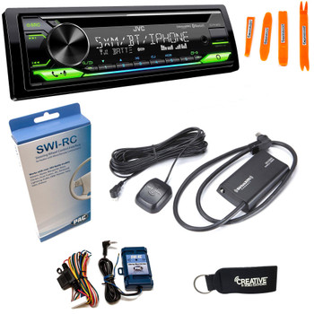 JVC KD-T910BTS - CD Receiver w/ Bluetooth, USB, Amazon Alexa + SirusXM Radio Tuner & Swi-RC Control Interface