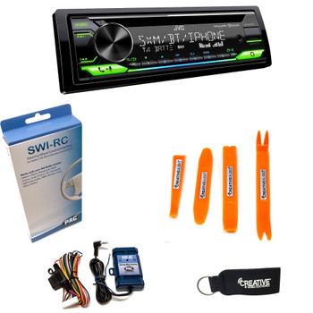 JVC KD-T910BTS - CD Receiver w/ Bluetooth, USB, Amazon Alexa, SirusXM Ready + SWI-RC Steering Wheel Control Interface