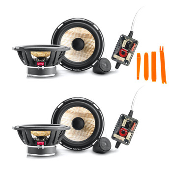 "Focal Bundle - 2 Pairs Of PS165F Flax 6.5"" 2-Way Component Speakers , RMS: 70W - MAX: 140W"
