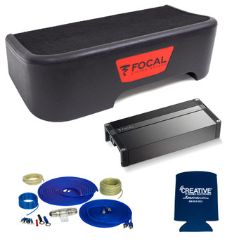 "Focal Compatible With 2011-2018 Ford F-150 SuperCrew - Single 10"" Sub Package w/Wiring kit"