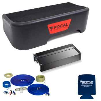 "Focal Compatible With 2017-2018 Ford Superduty SuperCrew - Single 10"" Sub Package w/Wiring kit"