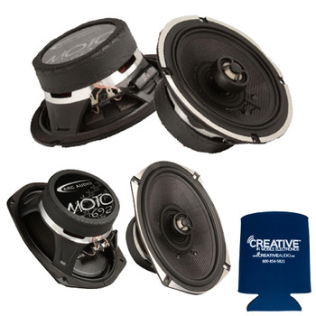 "ARC Audio for Harley Davidson 1 Pair Of MOTO602V2 6.5"" Coaxial + 1 Pair MOTO692 6x9"" Coaxial"