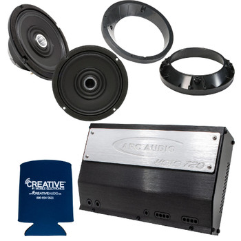 "ARC Audio for Harley Davidson - Moto 720.4 Amplifier + A Pair Moto602-HD 6.5"" Speakers With Speaker Adapter Rings"