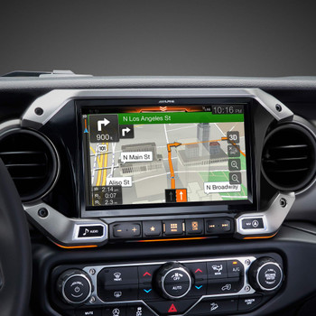 Alpine X409-WRA-JL 9-Inch Weather-Resistant Nav System w/ Off-Road Mode for 18+ Jeep Wrangler and Jeep Gladiator