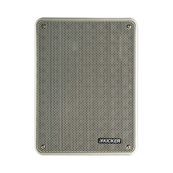 Kicker KB6 Indoor Outdoor Patio Speaker Bundle in Gray- 8 Speakers total