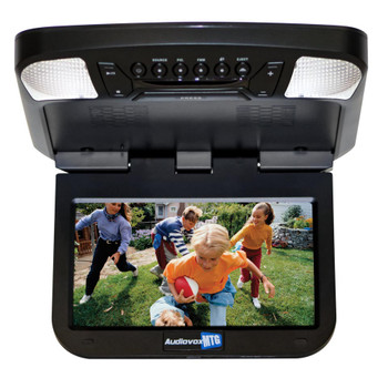 """Audiovox AVXMTG9BA 9"""" monitor with built-in DVD player (black finish)"""