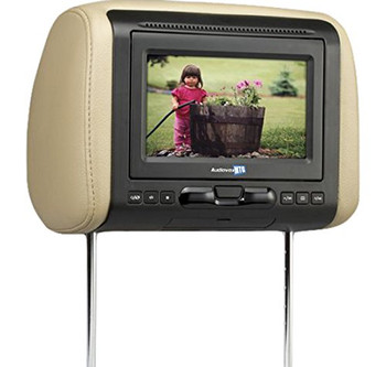 Audiovox Avxmtghr1d 7 Widescreen Headrest Monitor Dvd Black Gray Tan