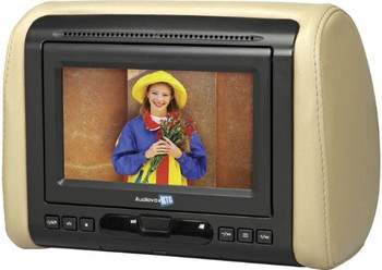 Audiovox Avxmtghr1d 7 Widescreen Headrest Monitor Dvd Black Gray Tan