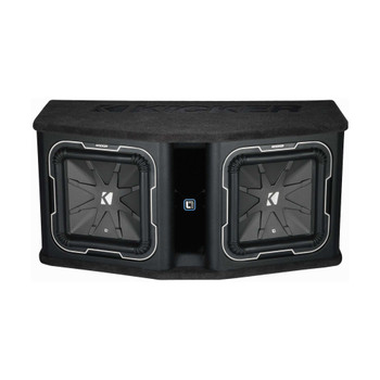 Kicker Q-Class DL712 Dual KICKER L7 12-inch Subwoofers in Vented Enclosure, 2-Ohm