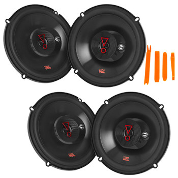 "JBL STAGE3 2-Pairs of Stage3 637FAM 6.5"" 3-Way Coaxial Speakers - No Grills"