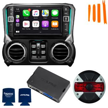 Alpine X409-WRA-JK 9-Inch Mech-less Navigation w/HCE-TCAM1 Camera, KAC-001 Controller for 2011-18 Jeep Wrangler