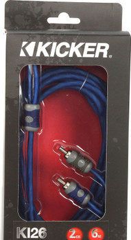 Kicker 46KI26 K-Series 2-Channel RCA Interconnect, 6.0 Meter