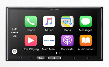 Alpine iLX-107 7 Inch Mech-less Receiver compatible with Wireless CarPlay - Used Good