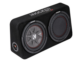 Kicker 43TCWRT102 CompRT10 10-inch Subwoofer in Thin Profile Enclosure, 2-Ohm, 400W - Open Box