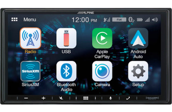 Alpine iLX-W650 Digital Multimedia Receiver with CarPlay and Android Auto Compatibility - Used Very Good