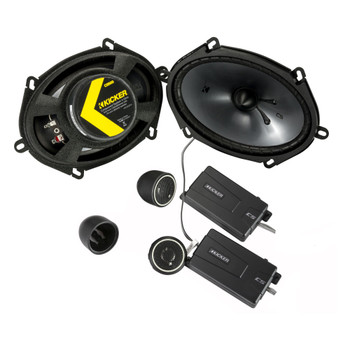 Kicker 46CSS684 CS-Series CSS68 6x8-Inch (160x200mm) Component System with .75-inch tweeters, 4-Ohm (Pair) - Open Box