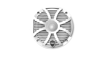Wet Sounds REVO 6-SWW White Closed SW Grille 6.5 Inch Marine LED Coaxial Speakers (pair) - Used Good