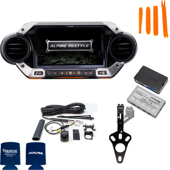Alpine X409-WRA-JL Off Road Front and Spare Tire Camera bundle for 2018 and Up Jeep Wrangler JL