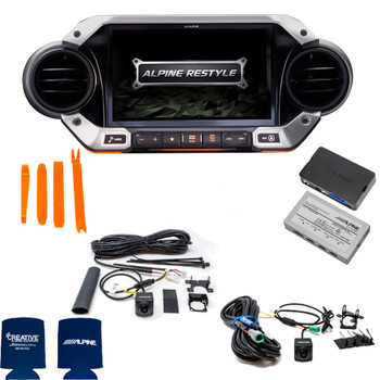 Alpine X409-WRA-JL Off Road Camera Accessory bundle for 2018 and Up Jeep Wrangler JL