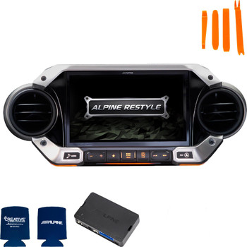 Alpine X409-WRA-JL with w/KAC-001Accessory Controller bundle for 2018 and Up Jeep Wrangler JL