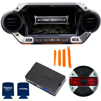 Alpine X409-WRA-JL with w/ HCE-TCAM1 Camera, KAC-001Accessory Controller bundle for 2018 and Up Wrangler JL