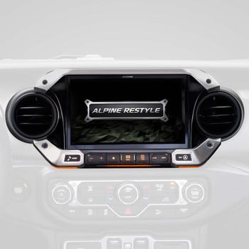 Alpine X409-WRA-JL with w/ HCE-TCAM1 Camera bundle for 2018 and Up Wrangler JL