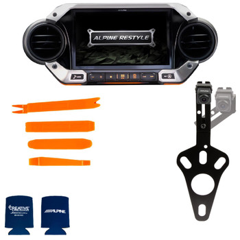 Alpine X409-WRA-JL with Spare Tire Camera bundle for 2018 and Up Wrangler JL