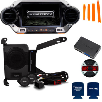 Alpine X409-WRA-JL Ultimate Audio Accessory bundle for 2018 and Up Wrangler JL