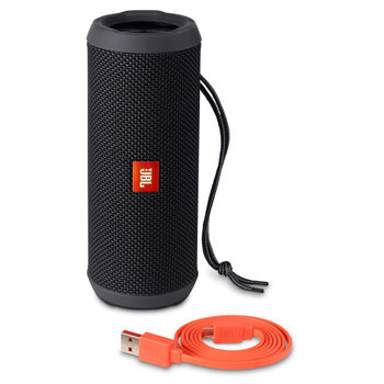 JBL Flip 3 Full-featured splashproof portable speaker with surprisingly powerful sound in a compact form - Black