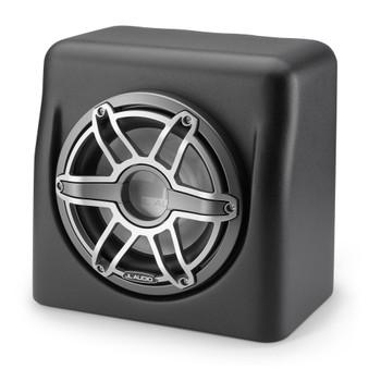 JL Audio 10-Inch M6 Enclosed Subwoofer, Matte Black With Gunmetal & Titanium, Sport Grille - SKU: M6-10FES-Mb-S-GmTi-4