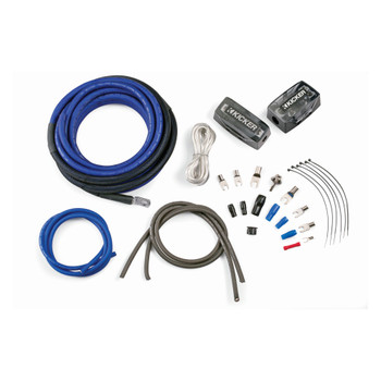 Kicker 46PKD4 PKD4 4AWG Dual Amplifier Power Kit - Power, Ground, Distribution Block, Remote Wire and Fuse Block.