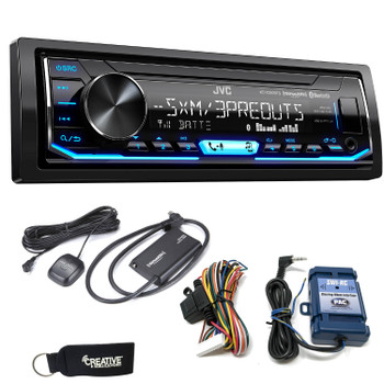 JVC KD-X350BTS Digital Media Receiver w/ Bluetooth, includes SWI-RC Steering Wheel Control Interface & SiriusXM Tuner