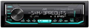 JVC KD-X350BTS Digital Media Receiver w/ Bluetooth, includes SXV300 SiriusXM Satellite Radio Tuner