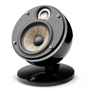 Focal Dome Pack 2.0 Flax 2-Way Compact Sealed Satellite Speaker (Black, Pair)