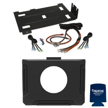 Polaris RZR 2014-2018 - Universal 2/4 Channel Amplifier Installation Kit with Gauge Dash Kit