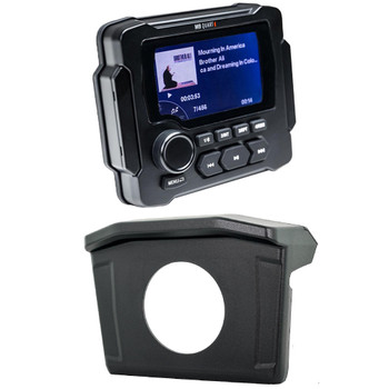 MB Quart for Polaris Ranger 13-18 - MB Quart GMR-LED Waterproof Radio With Ranger Radio Mounting Kit