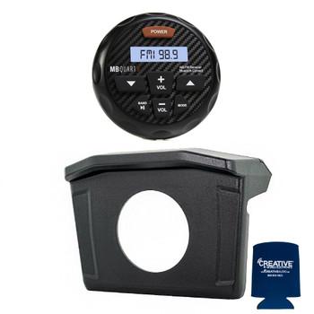 Stinger SPXRNGDASH 13-18 Polaris Ranger Radio Mounting Kit and and MB Quart GMR-3 Waterproof Radio