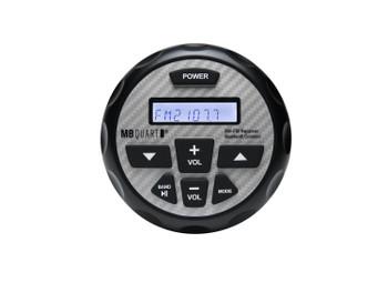 MB Quart for Polaris RZR 14-18 - MB Quart GMR-2.5 Waterproof Radio With RZR Radio Mounting Kit