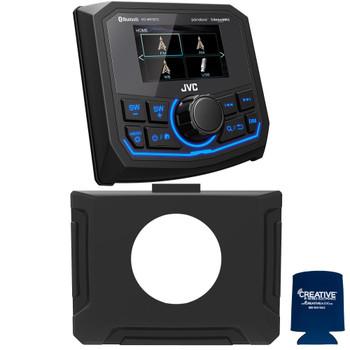 JVC For Polaris RZR 2014-2018 - JVC KD-MR1BTS Waterproof Radio With RZR Radio Mounting Kit