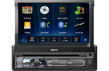 "Axxera AV7118Bi Multimedia DVD Receiver Flip-Out 7"" Monitor With USB/BT/Camera Input"