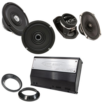 "ARC Audio MOTO602-HD 6.5"" Coax with MOTO692 6x9"" Coax and MOTO720 Amplifier for Harley Davidson Bundle"